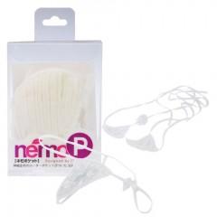 네모P 3개의 시크릿 포켓 마이크로 비키니 주름 디자인 화이트(ネモ 3シークレットポケット マイクロビキニ 織りデザイン ホワイト)