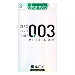 오카모토 003 플래티넘 1박스 10개입(Okamoto 003 Platinum)